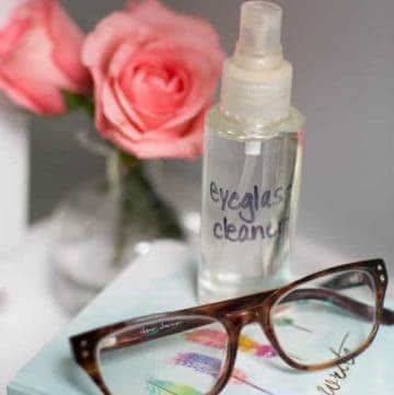 DIY Eyeglass Cleaner