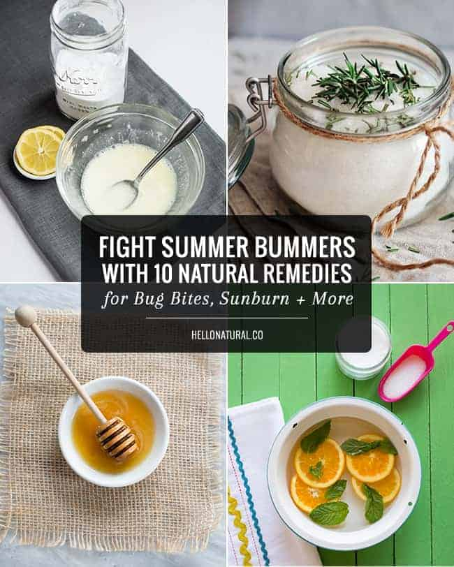 10 Natural Remedies for Bug Bites, Sunburn + Other Summer Bummers