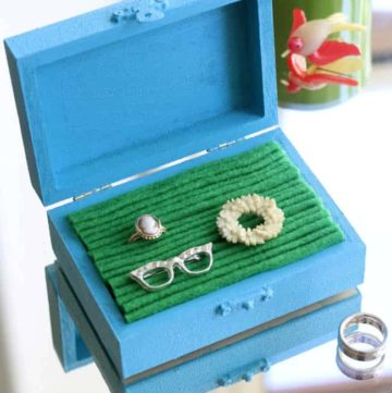 DIY Jewelry Box with Felt
