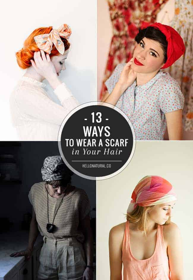 13 Chic Ways To Wear A Scarf In Your Hair Helloglow Co