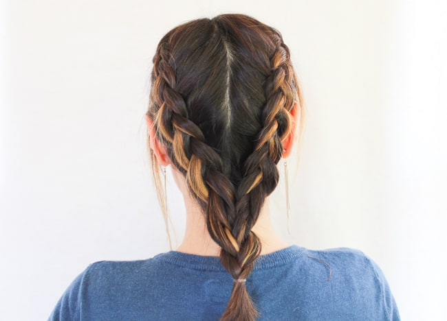 Double Dutch Braid | 3 Hairstyles for Dirty Hair