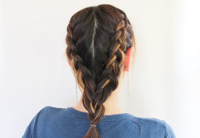 Double Dutch Braids | 10 Easy Workout Hairstyles