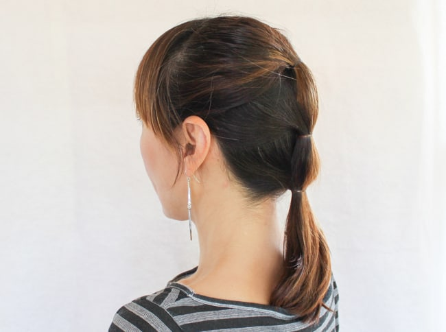 Sleek Ponytail |3 Updos for Dirty Hair