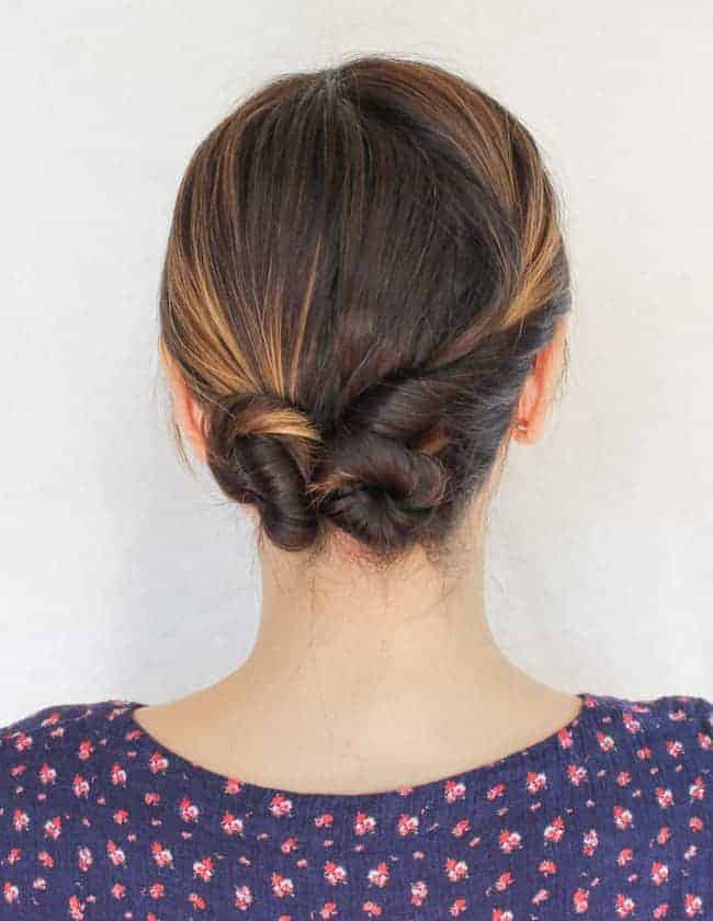 Easy updo for dirty hair