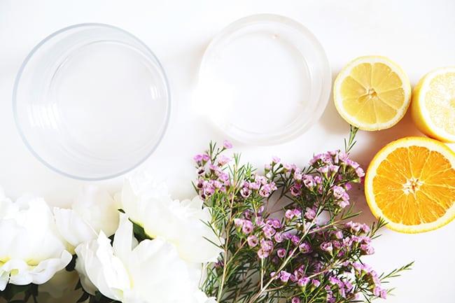 DIY citrus flower arrangement | Hello Glow