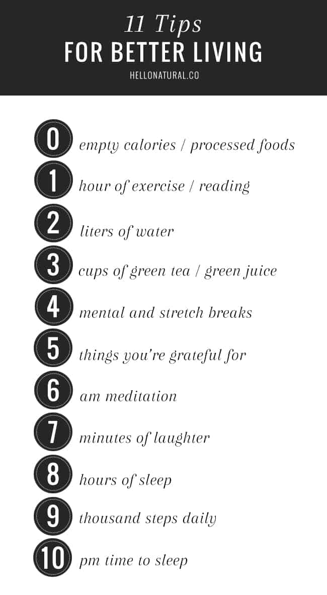 11 Healthy Habits for Better Living