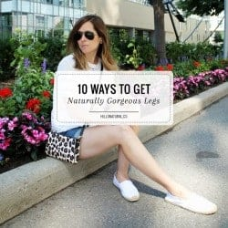 DIY Ingrown Hair Scrub + 10 Ways to Get Naturally Gorgeous Legs