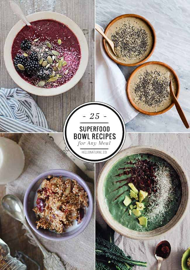 Easy recipes using superfoods