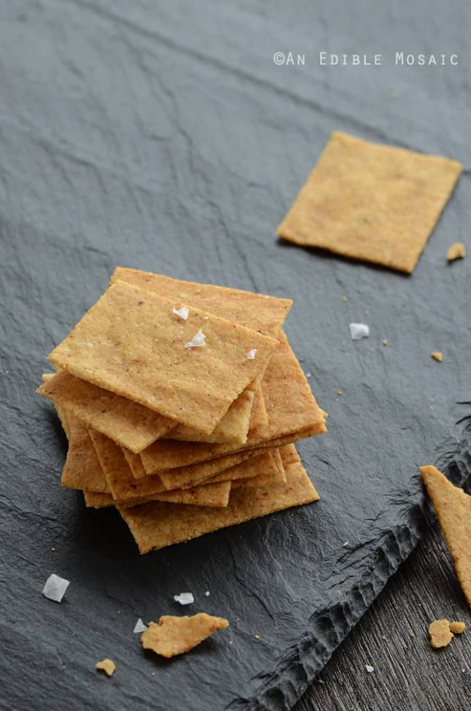 "Baked ""Cheese"" Crisps by An Edible Mosaic"