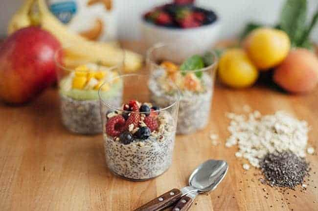 Overnight Chia and Oats 3 Ways for Summer | Hello Glow