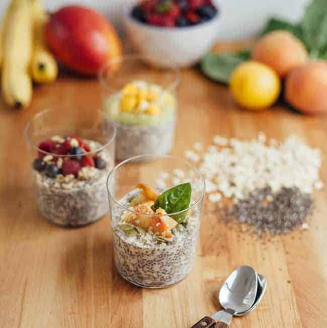 Overnight Oats with Chia Seeds – 3 Ways for Summer