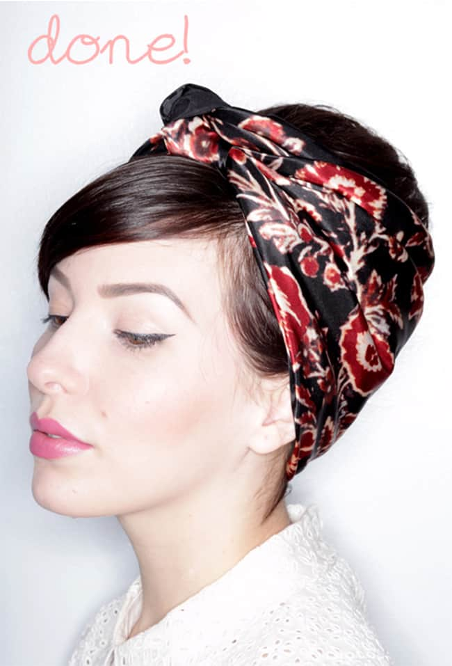 Hair Round Up - 13 Ways How to Wear a Scarf in Your Hair