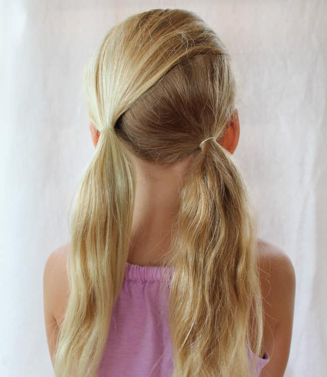 Asymmetric Pony Tails | 3 Pretty, Easy Back to School Hairstyles