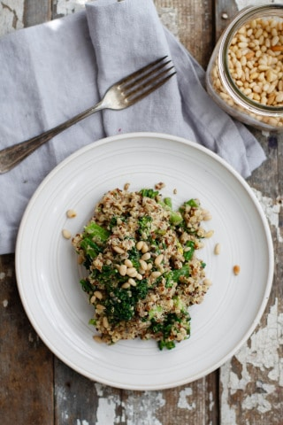 Cheezy broccoli quinoa pilaf by Nutrition Stripped