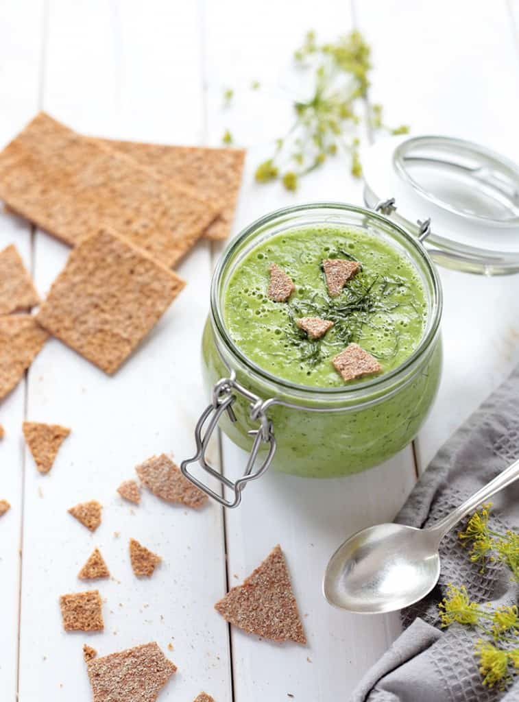 Green summer soup with dill by Green Evi