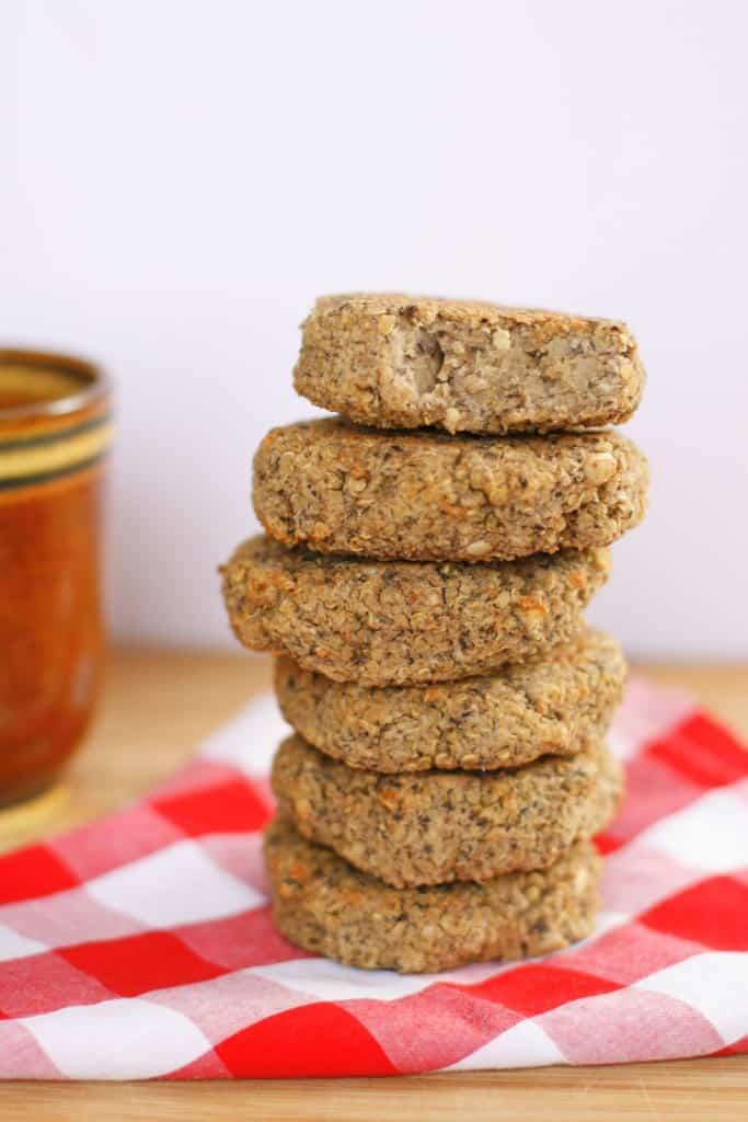 Quinoa and black bean burgers by Homemade Hearts