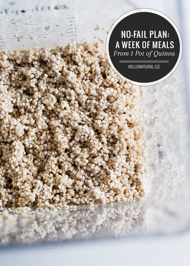 A week of dinner recipes with quinoa