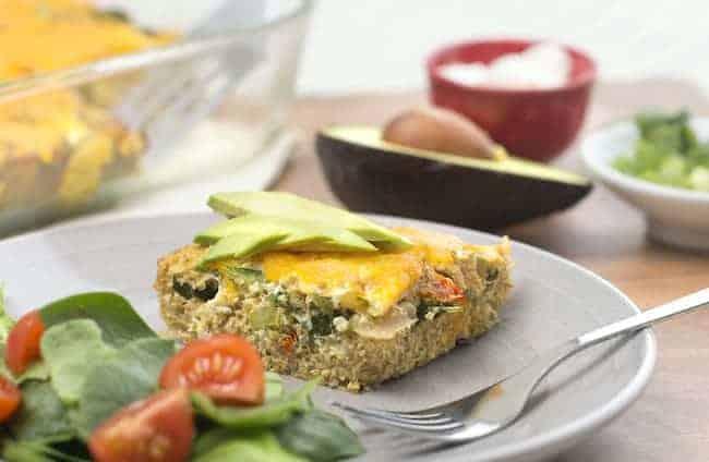 Make-Ahead Southwestern Quinoa Egg Bake from Hello Glow