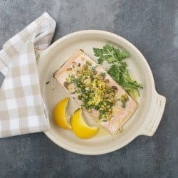 Easy Weeknight Meal: Lemon-Pistachio Salmon with Parsley