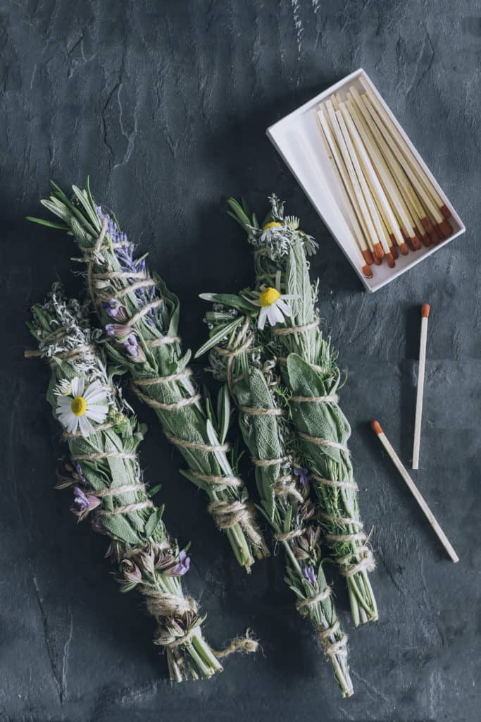 How To Make Your Own Rosemary Sage Smudge Sticks | Hello Glow