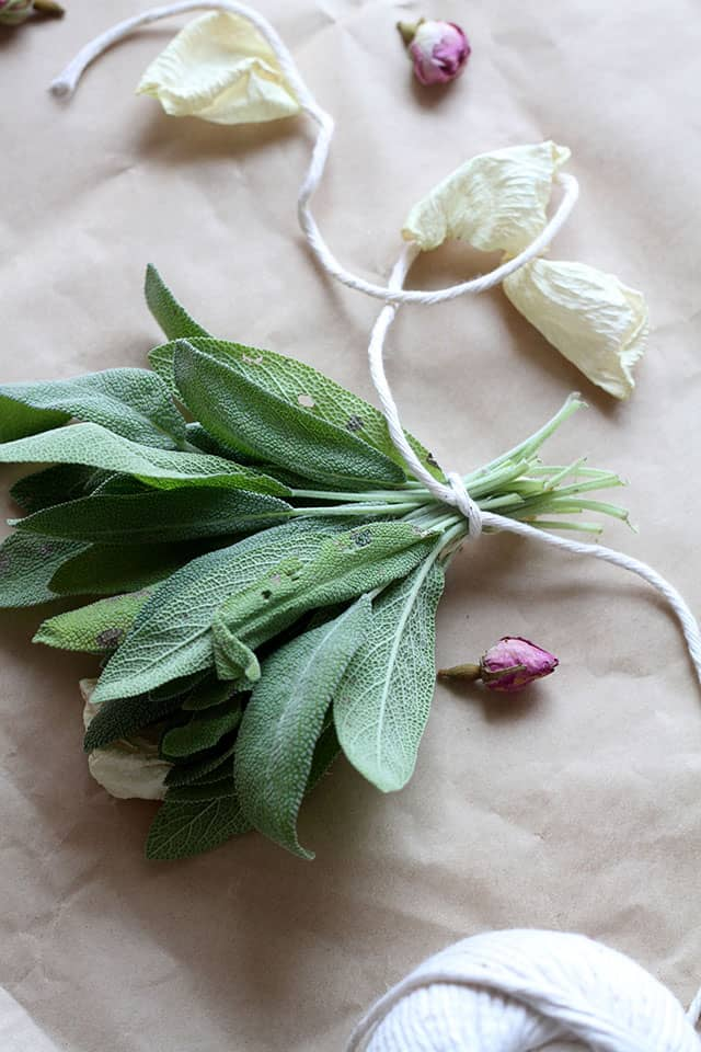 How To Make Your Own Rosemary Sage Smudge Sticks Hello Glow
