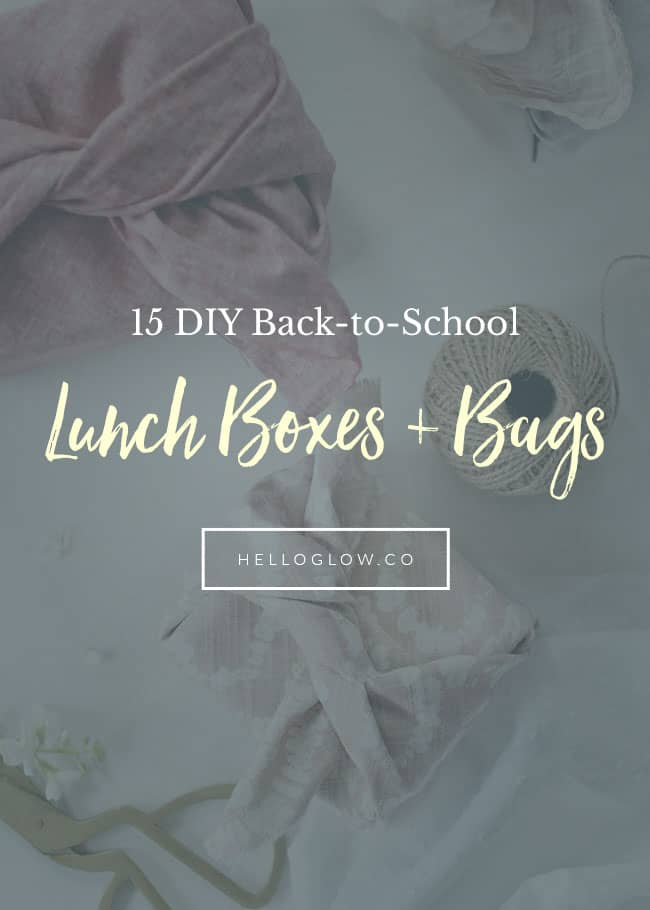 15 Back-to-School DIY Lunch Boxes and Bags - HelloGlow.co