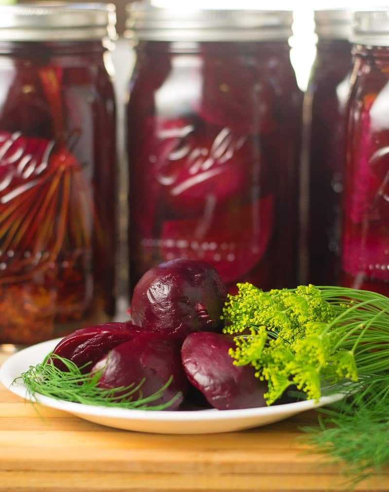 Dill pickled beets by Fox Valley Foodie