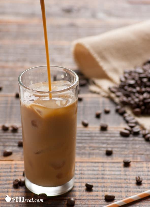 Skinny vanilla iced coffee