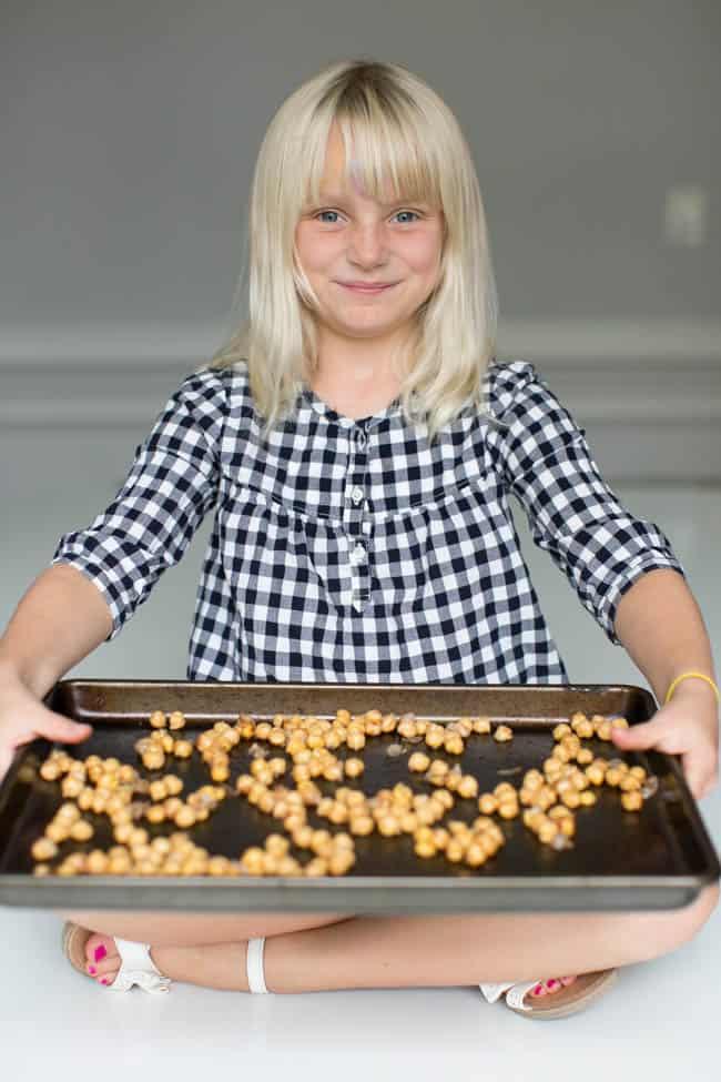 Cinnamon Sugar Roasted Chickpeas