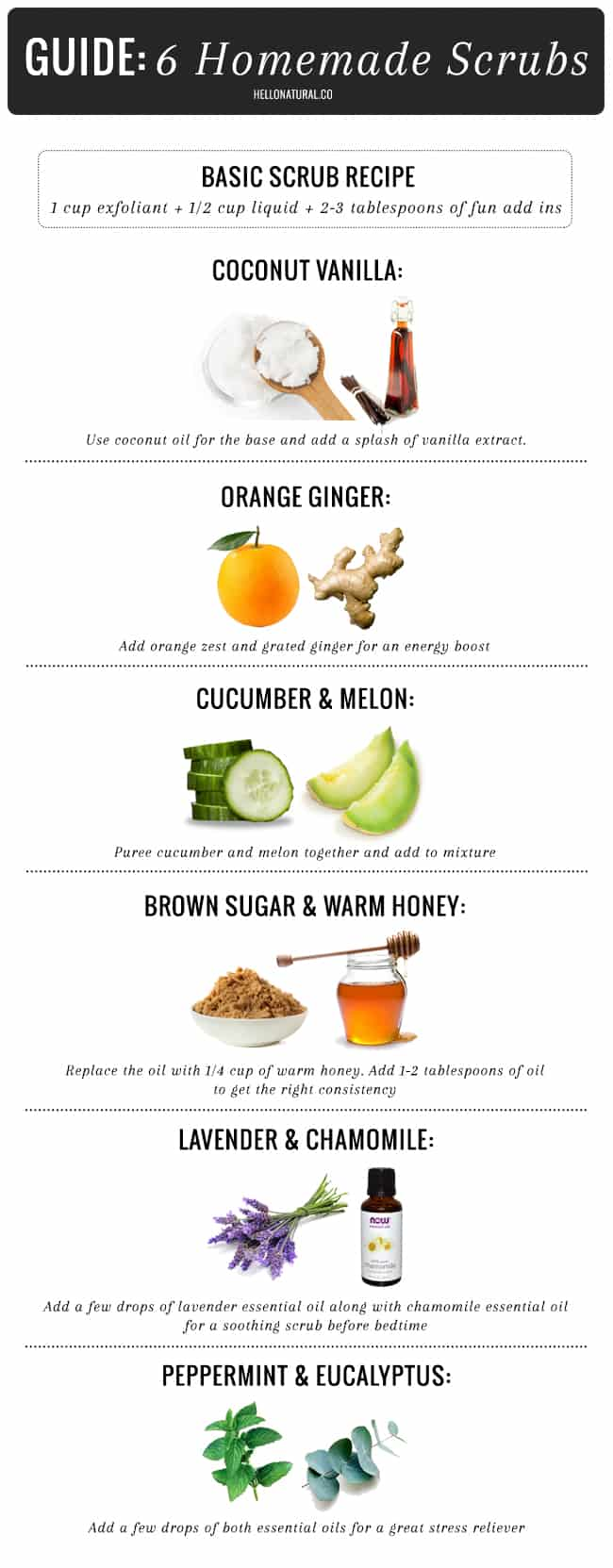 6 Homemade Body Scrub Ideas