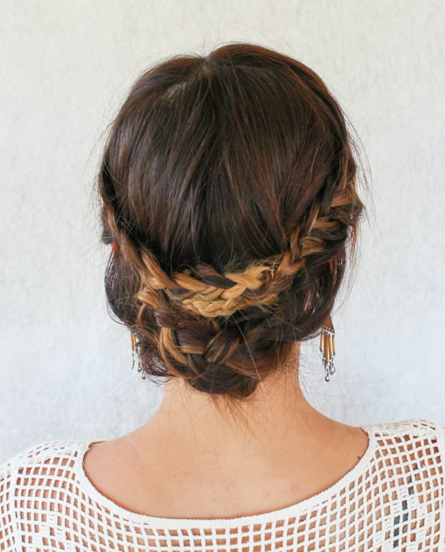 Braided updo by Hello Natural