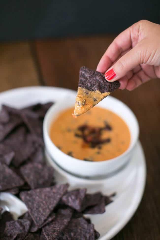 Vegan 5-Ingredient Mexican Cheese Dip