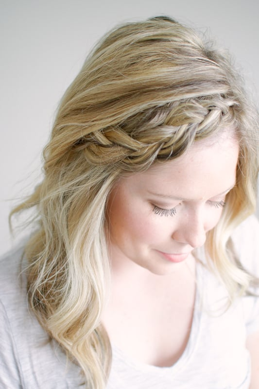 How to soften and stretch braids by The Small Things Blog