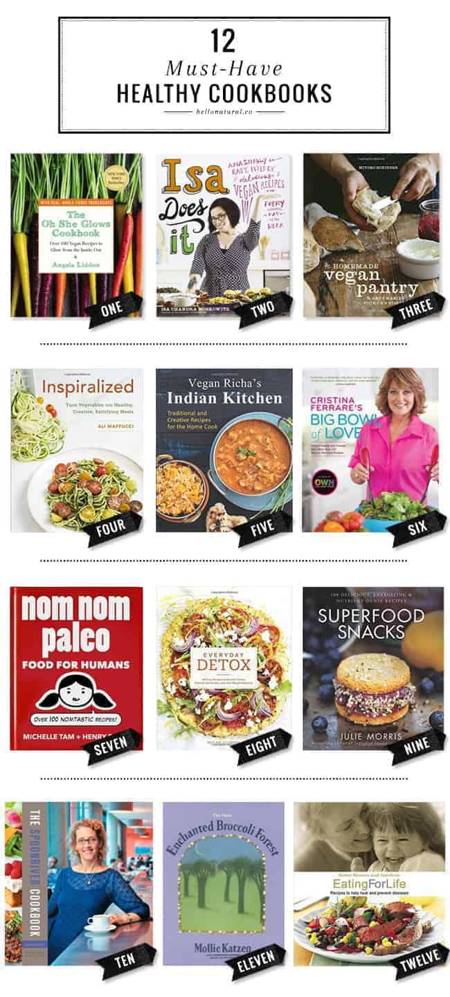 12 Must-Have Healthy Cookbooks