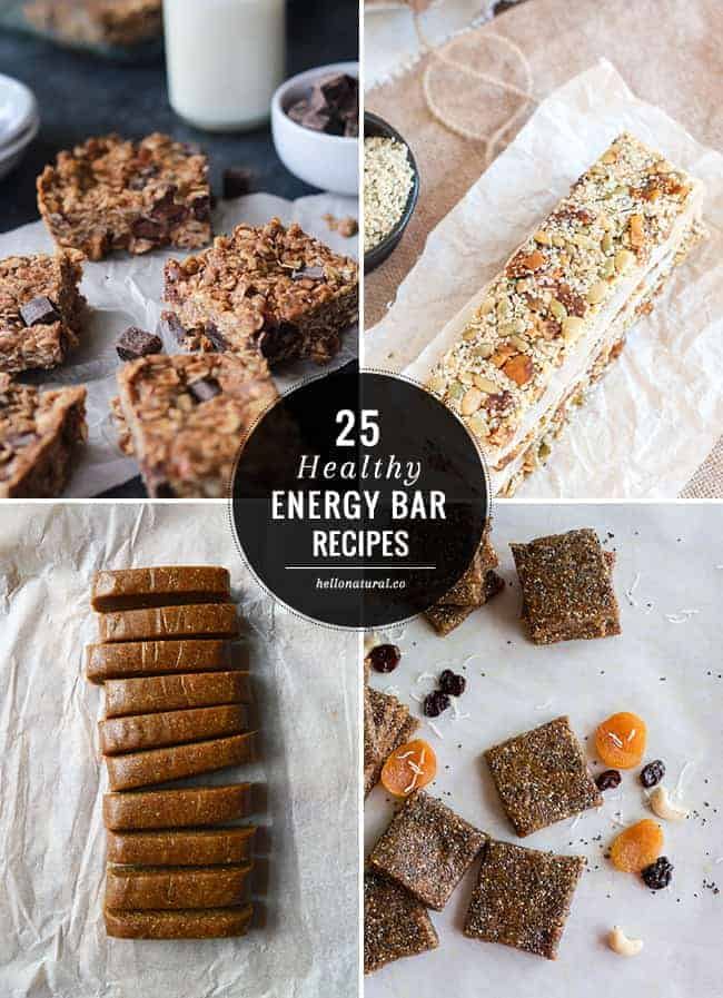 Snack on with 25 healthy energy bar recipes hello glow for Food bar 2015