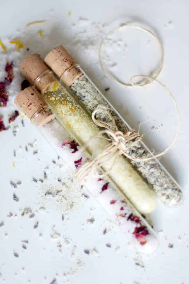 DIY Bath Salts with Sea Salt + Cocoa Butter