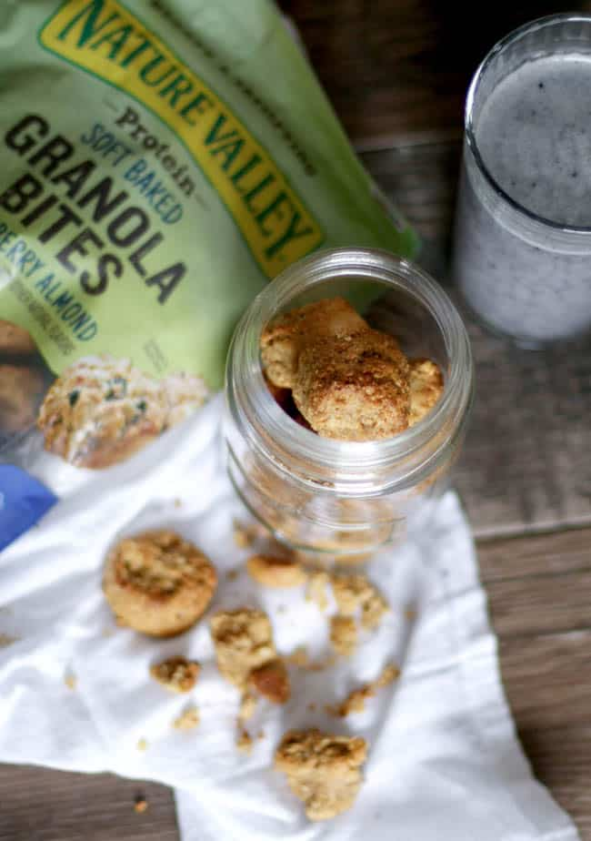 PB&J Energy Smoothie + Nature Valley Granola Bites