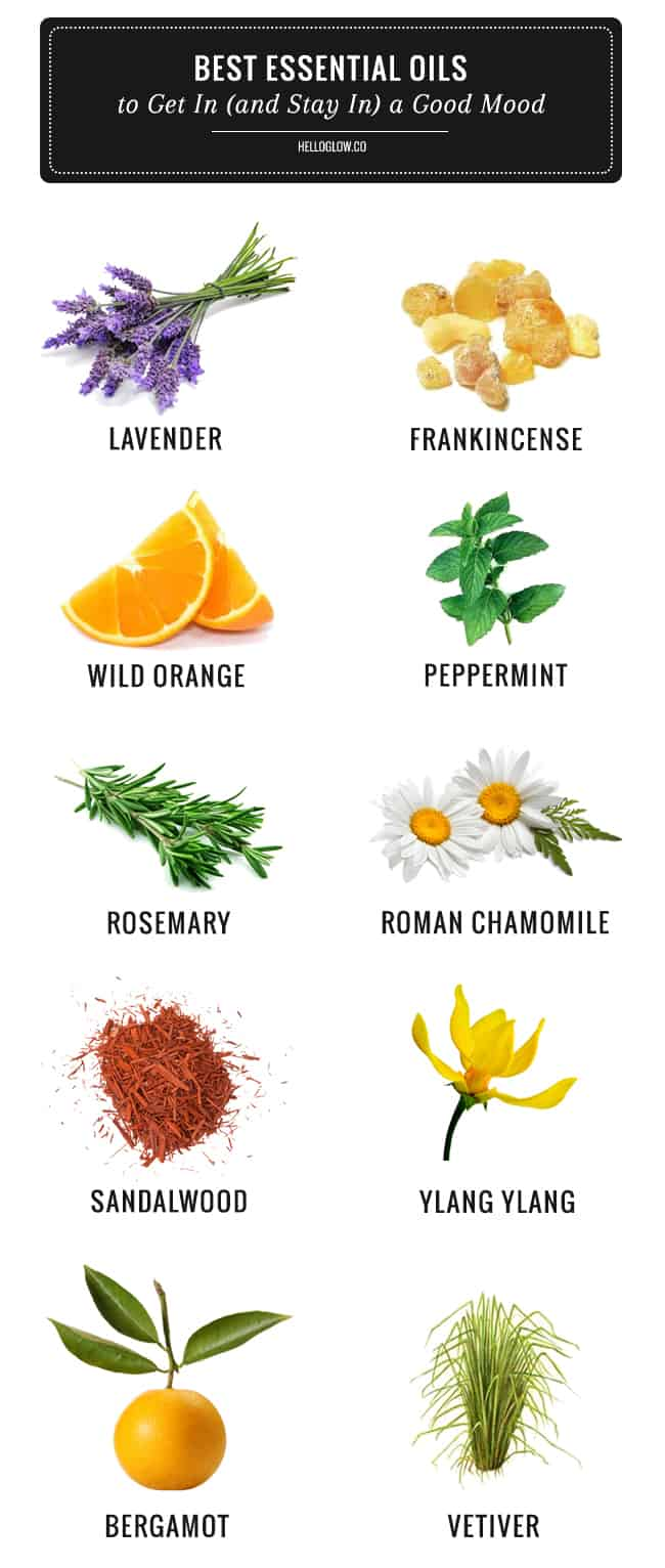 Best Essential Oils for Mood & Stress