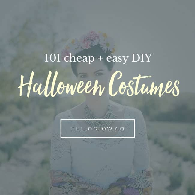 101 Cheap + Easy DIY Halloween Costumes - Hello Glow