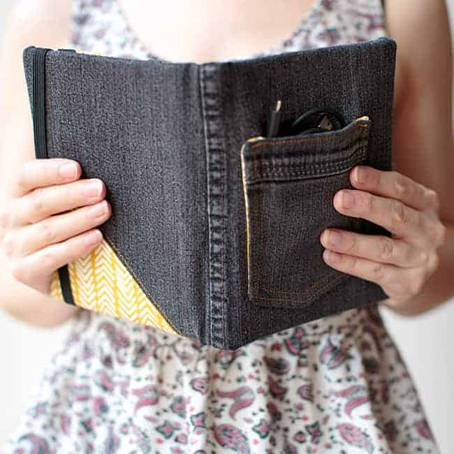 Recycled Jean DIY E-Reader Cover | Hello Glow