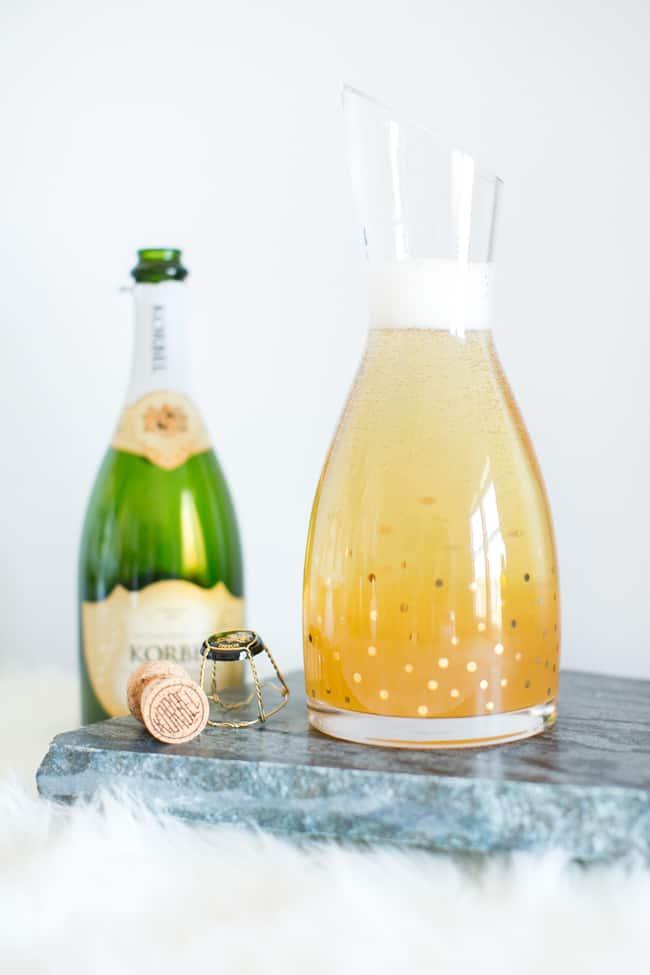 Kombucha Cocktail with Korbel