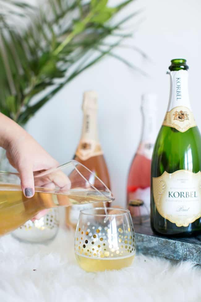 Kombucha Champagne Cocktail with Korbel
