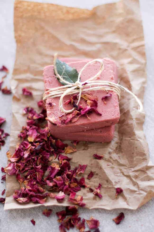 Rosewater & pink clay soap | 13 Beautiful Uses for Rosewater