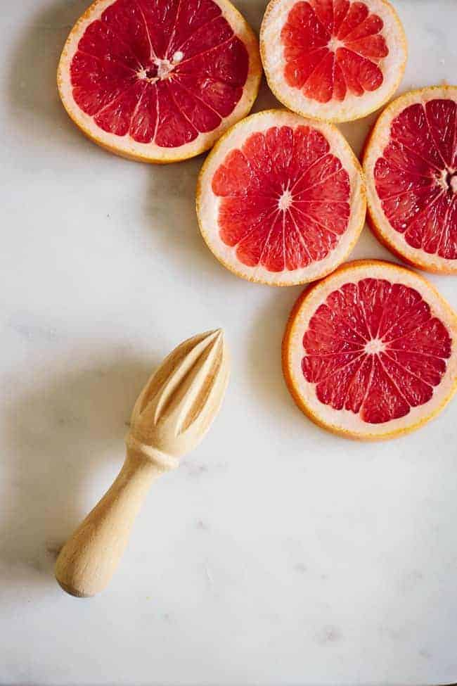 Pomegranate Grapefruit Champagne Cocktail + Turmeric Grapefruit Detox Tonic