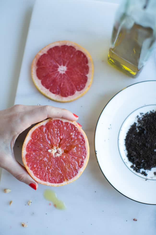Grapefruit DIY Face Mask + Body Scrub