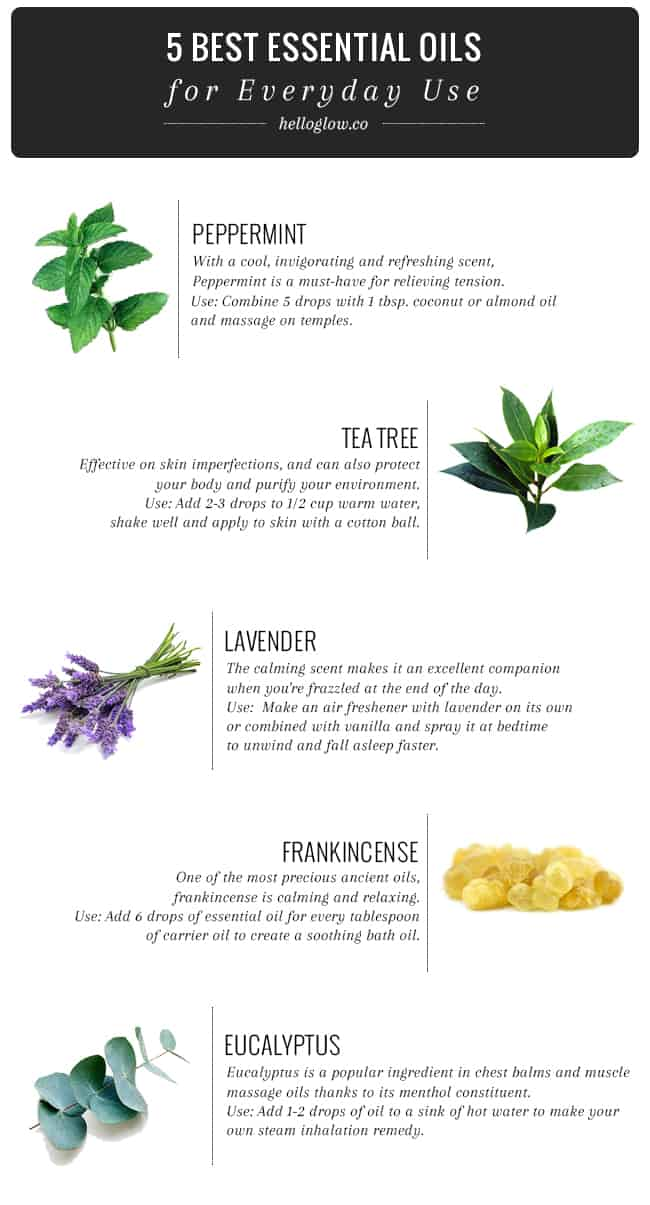 5 Essential Oils for Everyday Use
