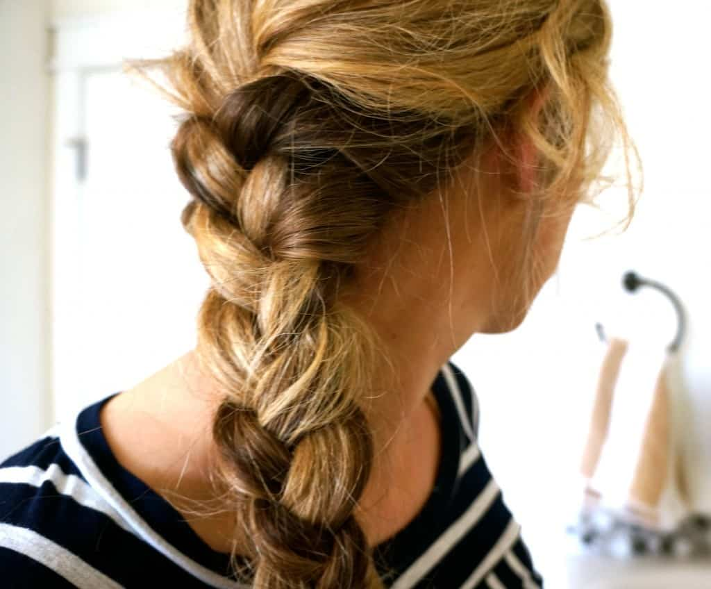 French Braid by Pearls on a String | 10 Workout Hairstyles