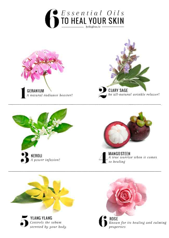 6 Essential Oils to Heal Your Skin