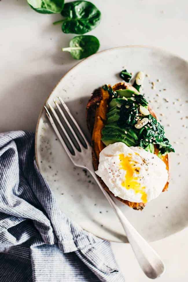 Breakfast Avocado Egg Stuffed Sweet Potato | 3 Stuffed Sweet Potato Recipes