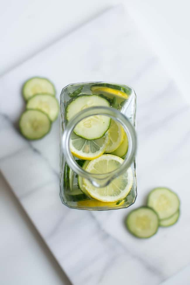 Collagen-Building Cucumber Spa Water